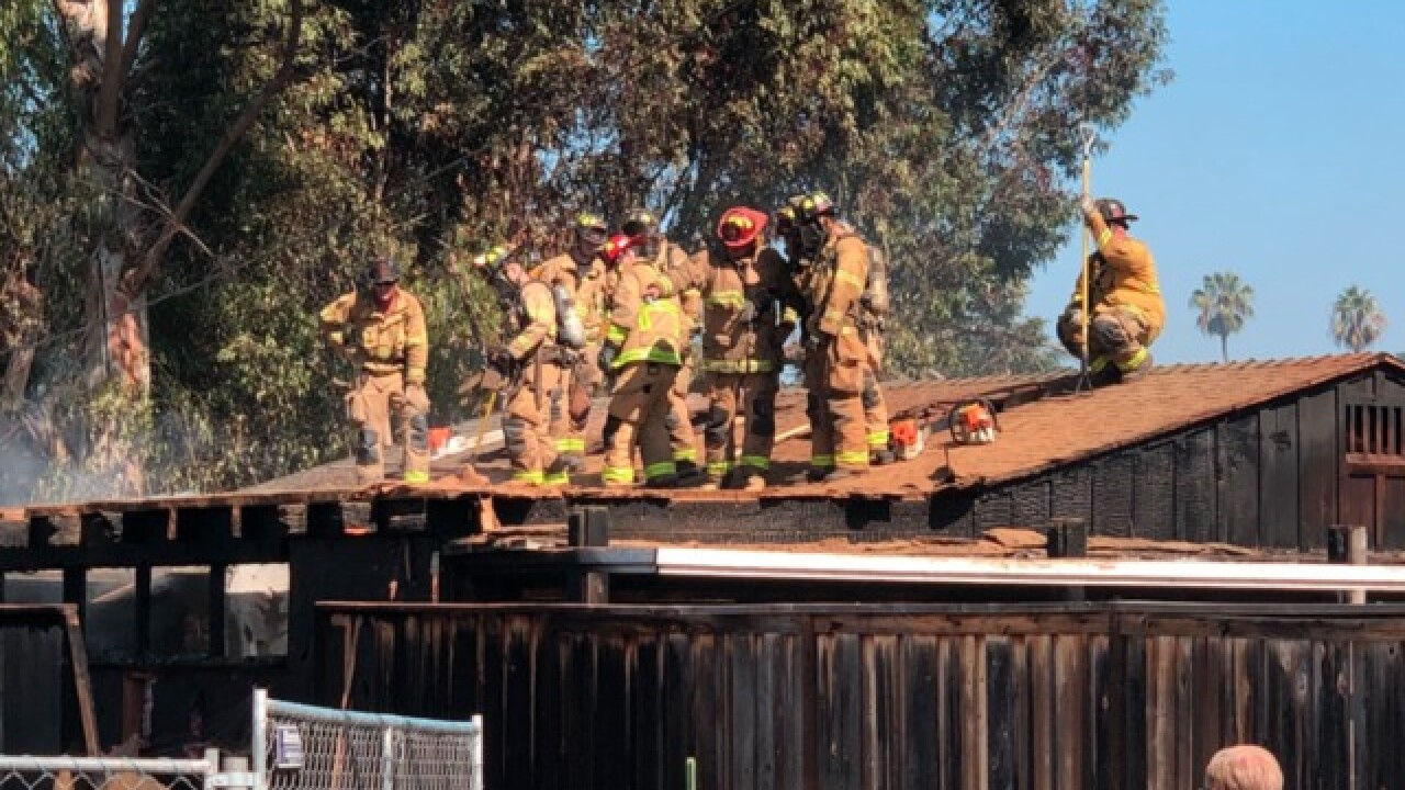Mission Hills home bursts into flames, man taken into custody
