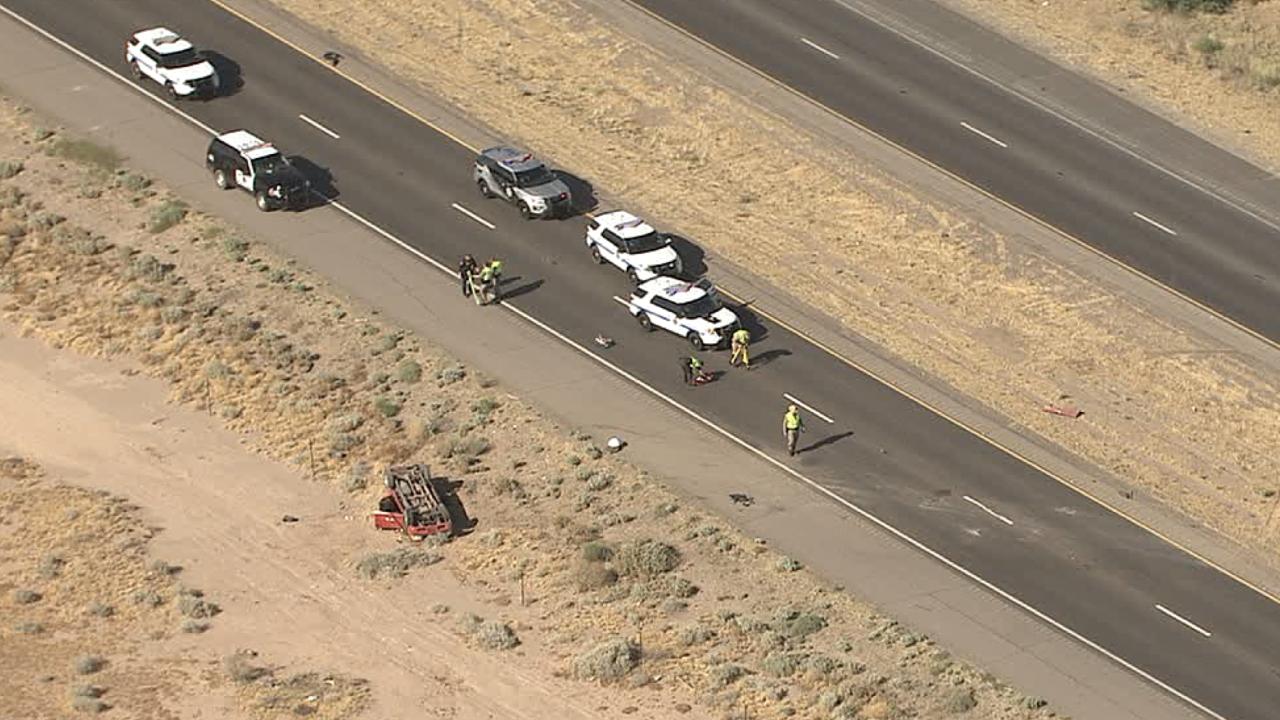 Rollover crash on SR 347