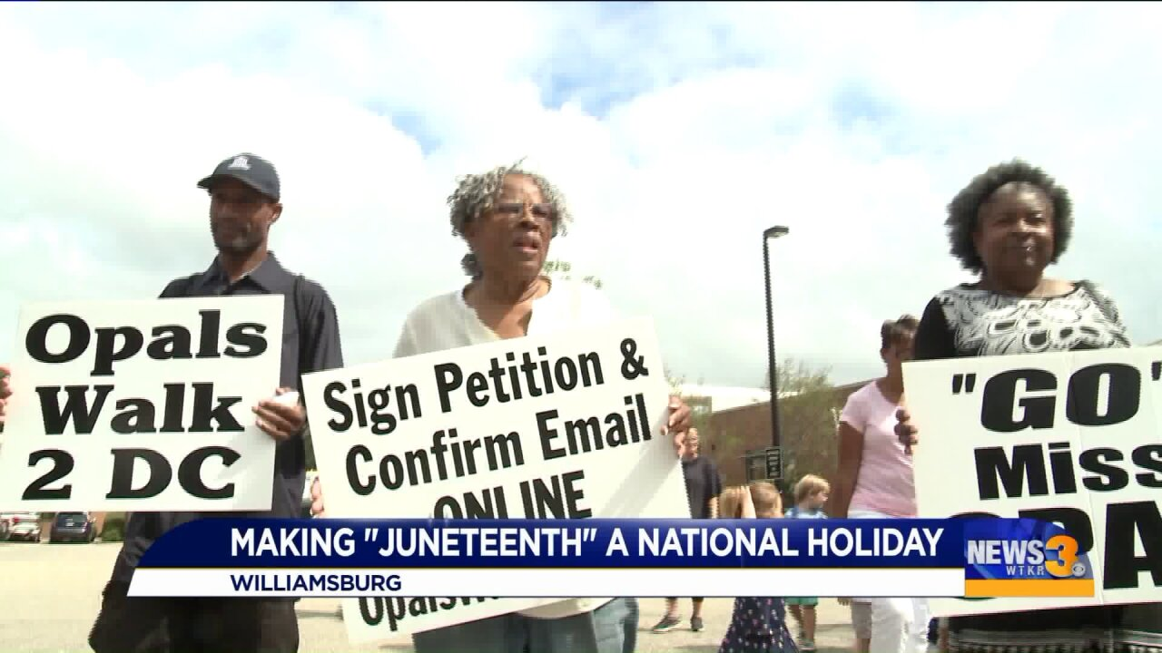 African-American activist pushing for national Juneteenth holiday stops in HamptonRoads