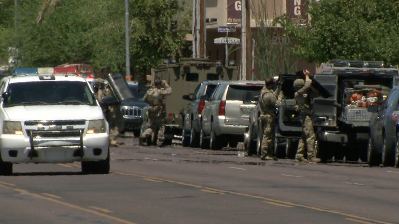 Standoff near 32nd Street and Campbell
