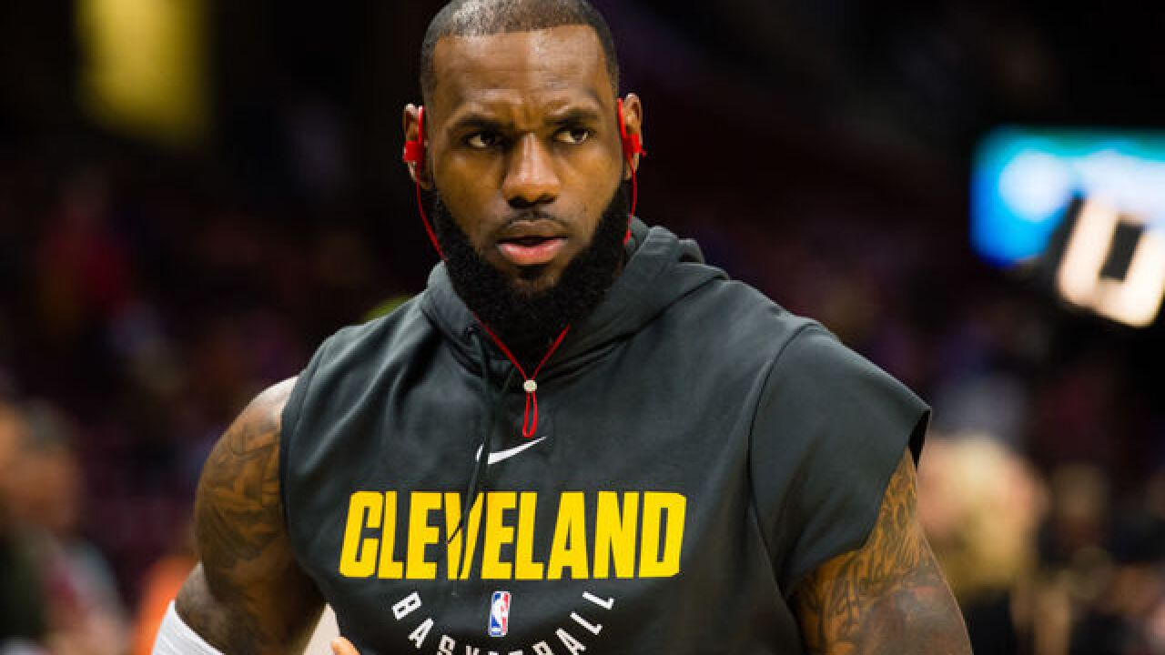 LeBron James ejected from game for the first time in his career