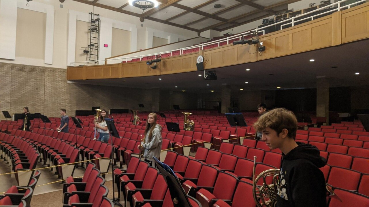 Amherst Central High School students are still connecting through music, at a safe distance