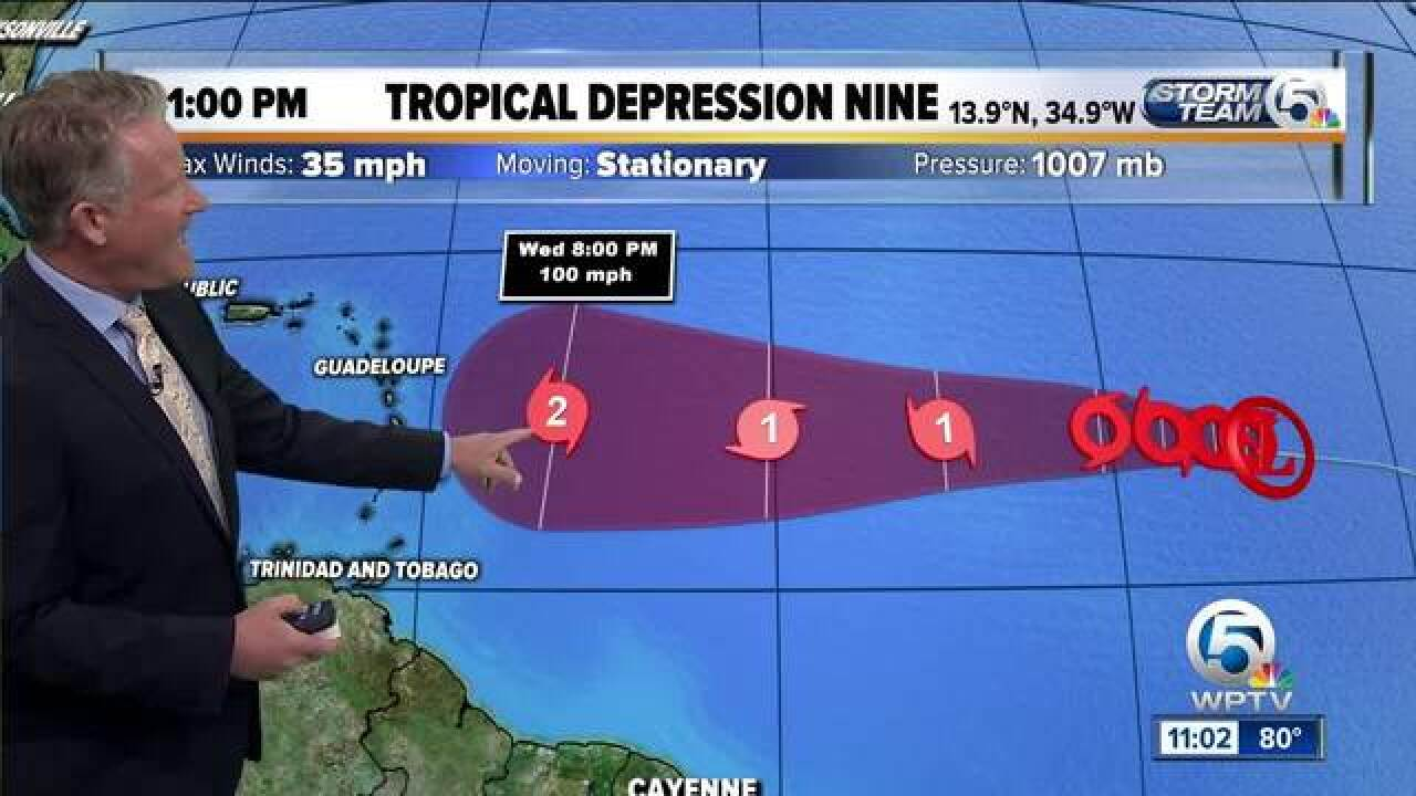 TD 8 upgraded to Tropical Storm Helene