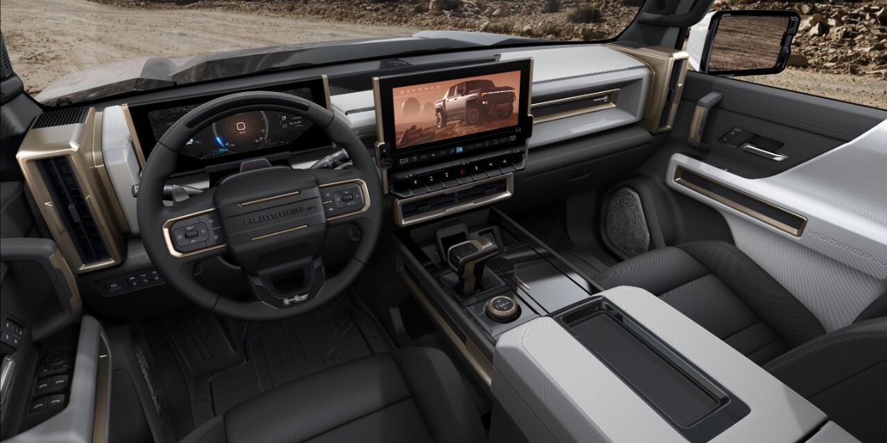 The 2022 GMC HUMMER EV's design visually communicates extreme