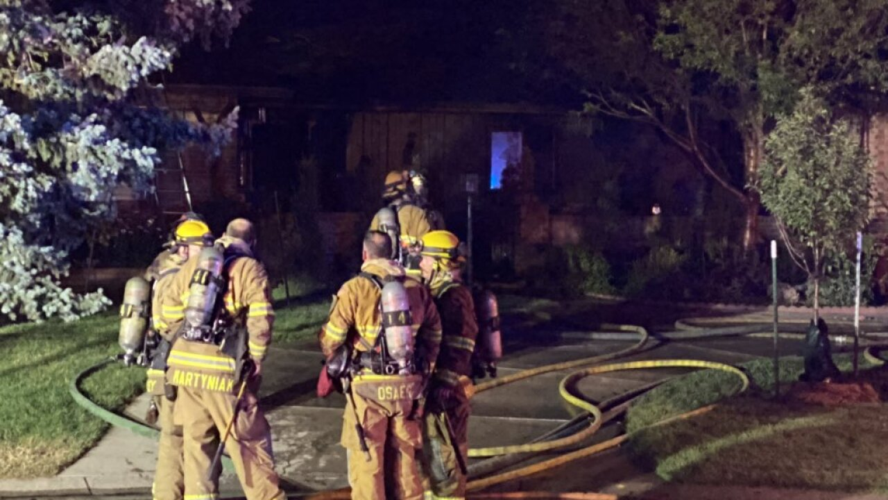 4 people are displaced after an early morning house fire in Colorado Springs