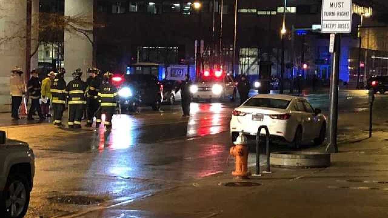 Fire investigating multiple exploding manhole covers near Public Square