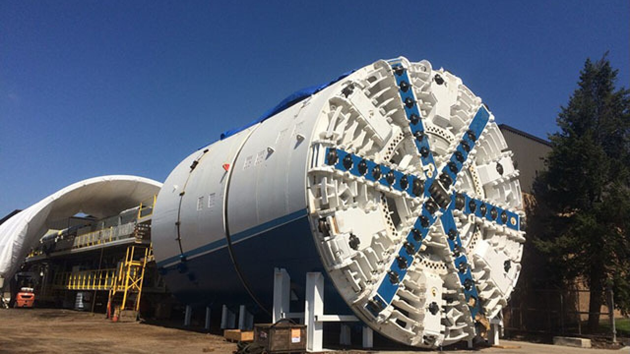 Tunnel boring machine to break through in downtown Akron Wednesday