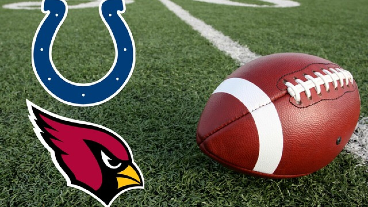 Indianapolis Colts take on the Arizona Cardinals in their home opener at Lucas Oil Stadium Sunday