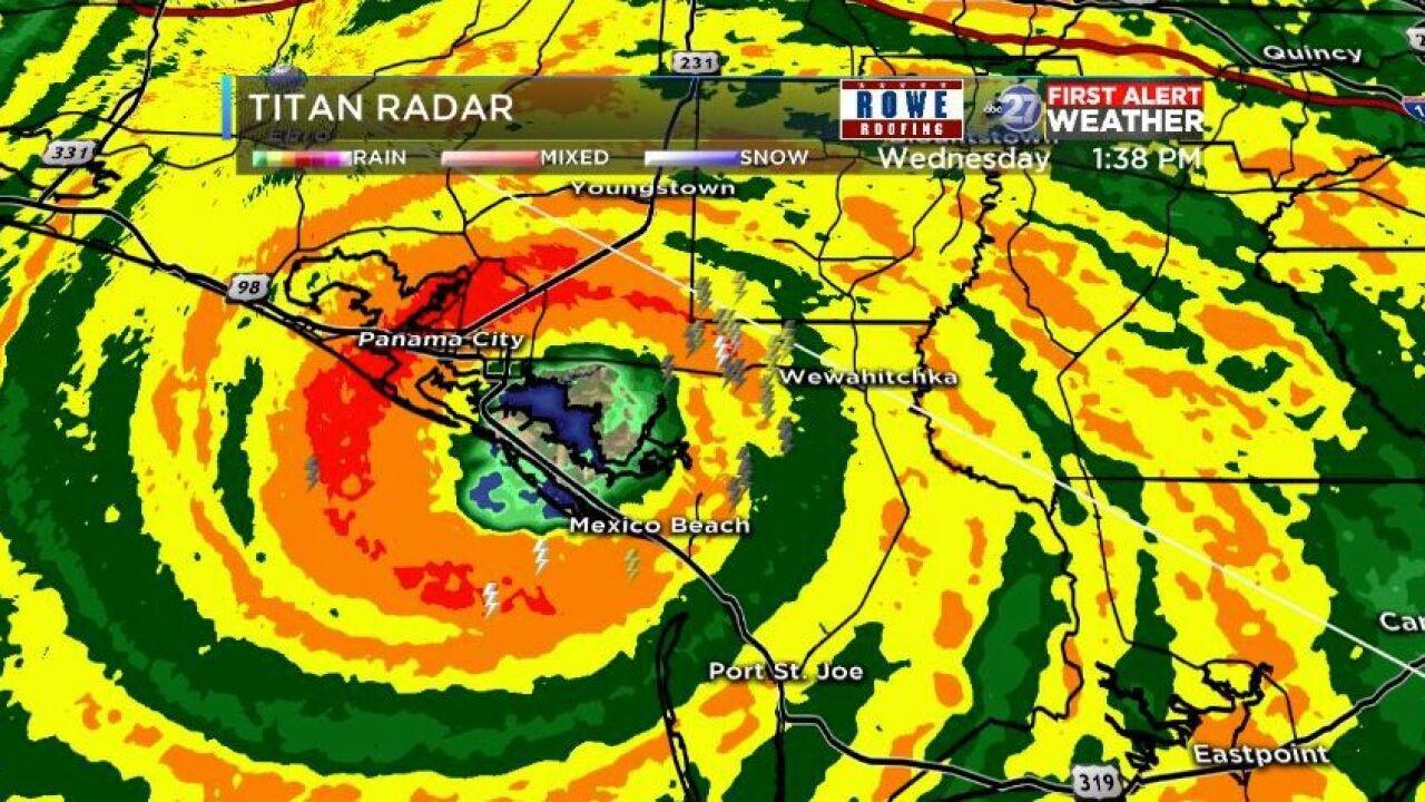 Hurricane Michael makes landfall as powerful Category 4 storm.JPG