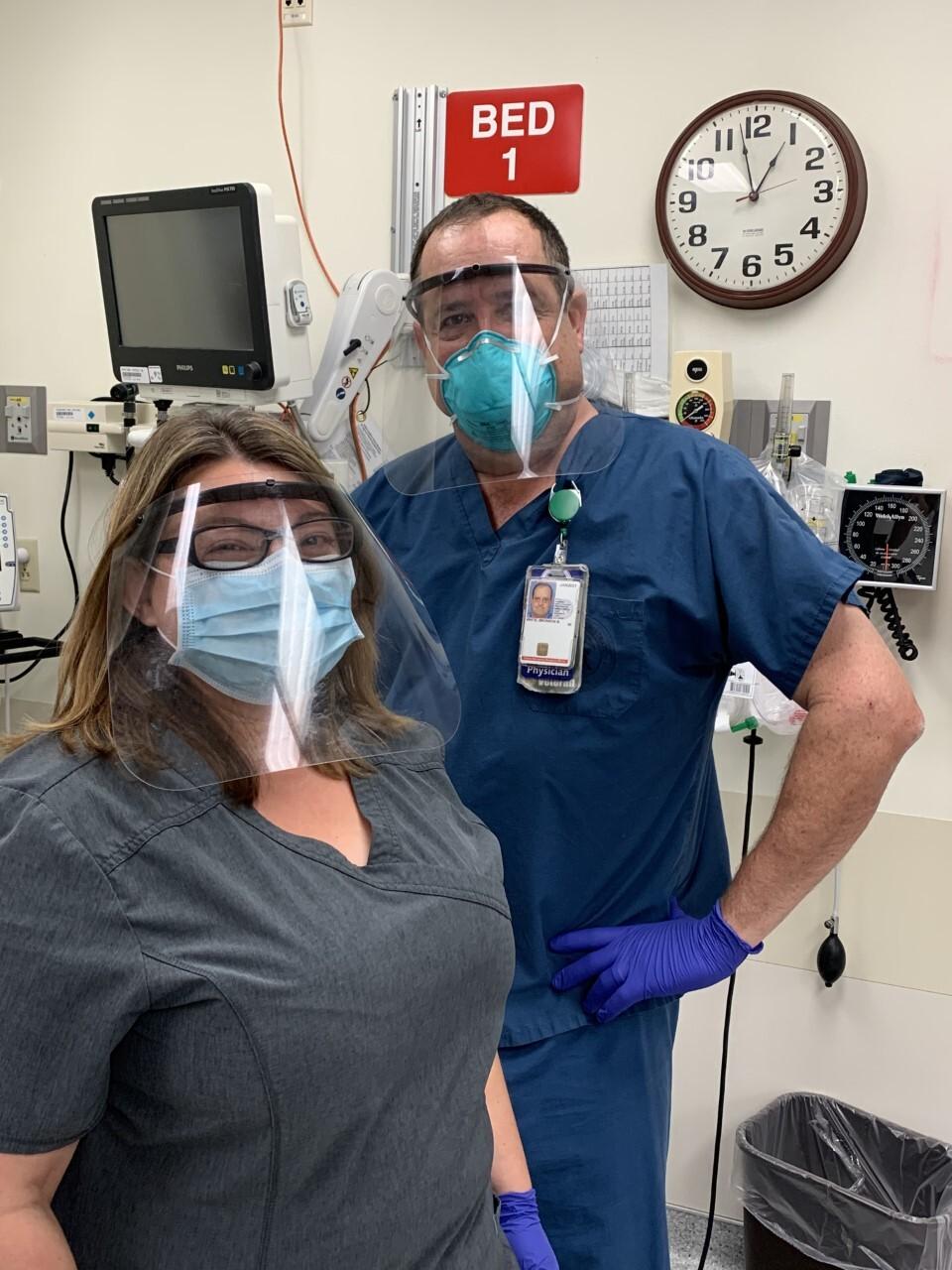 Dr. Bronson White at the VA Emergency Room