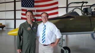 Bill Meck and Lt. Col. Tab Brinkman