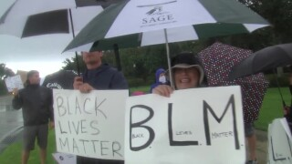 """Black Lives Matter"" protest at Trump National Golf Club in Jupiter, Fla."
