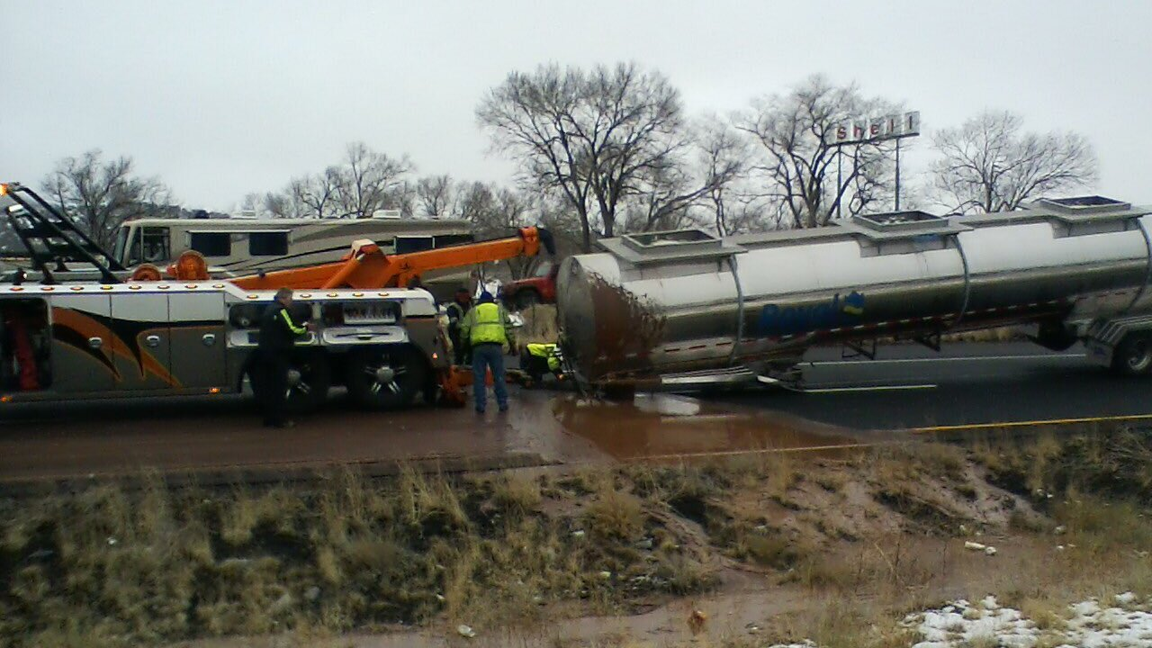 DPS: Tanker full of liquid chocolate spills on I-40 east of Flagstaff
