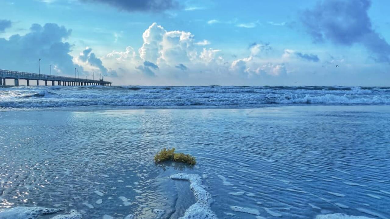 Bob Hall Pier Waters - Photo By: FB Coastal Bend Weather Watcher Lu Ann Kingsbury