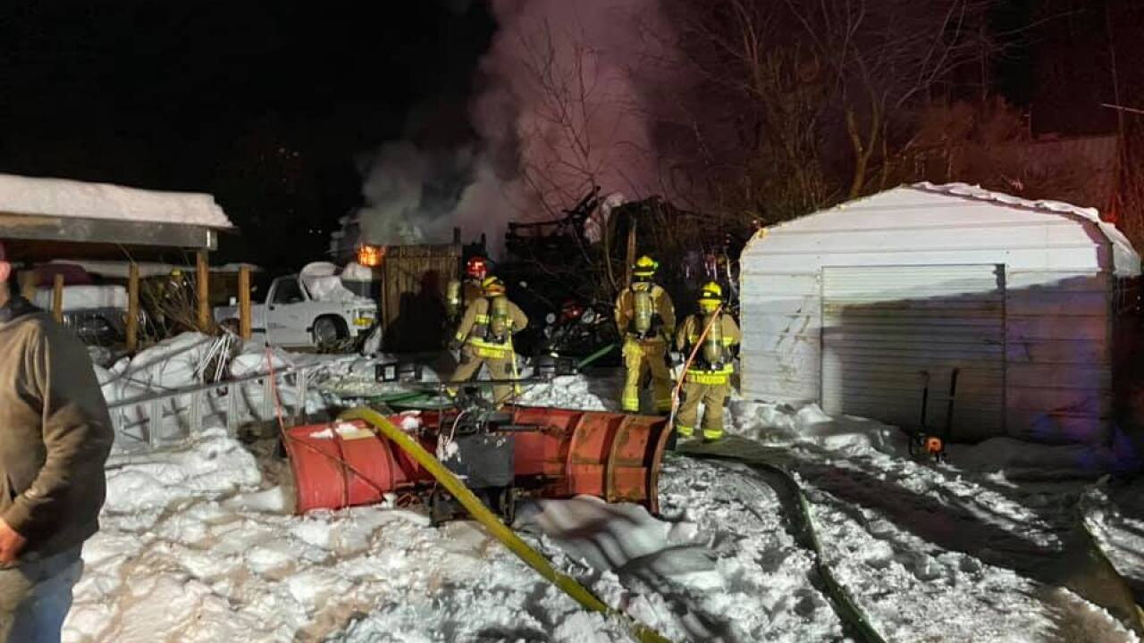 Crews in Weber County contain shed fire