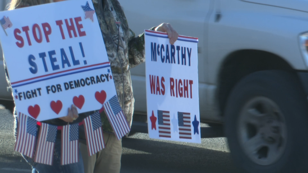 Election protesters at Montana Capitol
