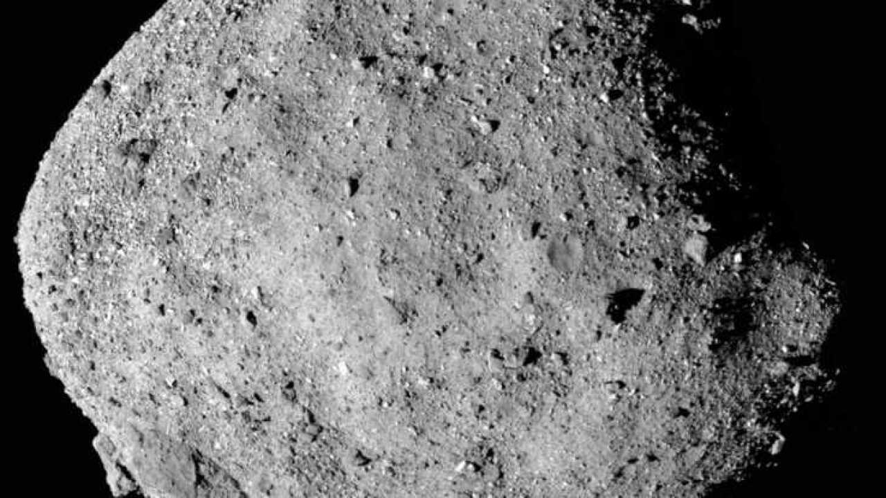 OSIRIS-REx probe sends back first image of asteroid Bennu