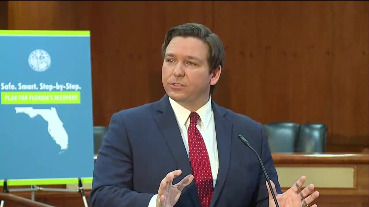 What is Florida's phase 1 of Gov. DeSantis' plan to reopen state?