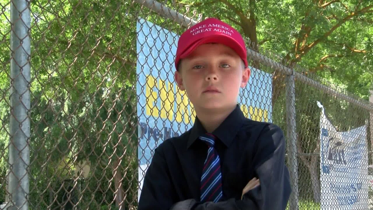Bullied third grader refuses to remove Trump hat