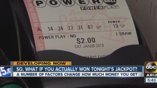 The most common winning Powerball numbers
