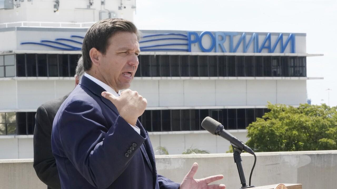 DeSantis designates $250 million in relief funds for Fla. ports