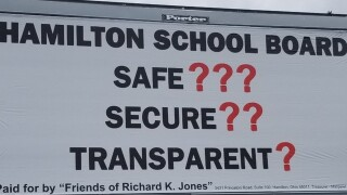 Butler County sheriff unveils 1st billboard blasting school security