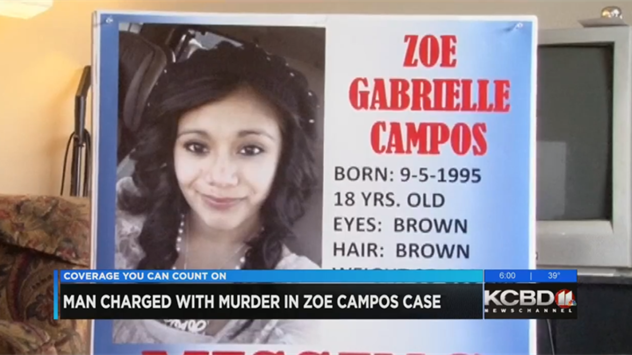 Suspect charged, remains found 5 years after Zoe Campos disappearance