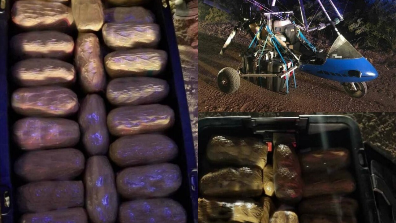 Border Patrol captures aircraft carrying $500,000 worth of meth, fentanyl