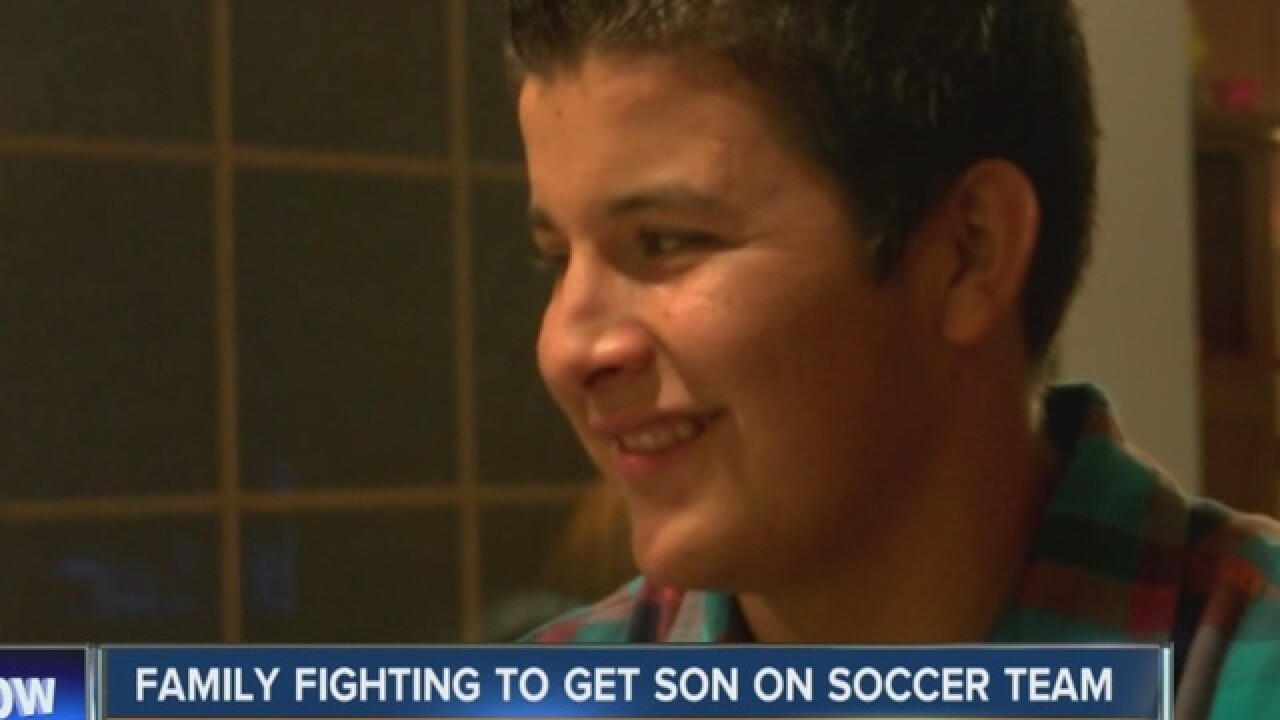 Family fighting NYS to get son on to soccer team