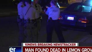 Man's death in Lemon Grove under investigation