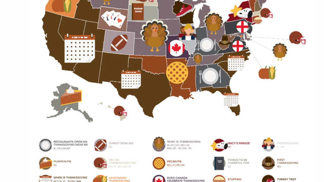 Thanksgiving Google Question Map