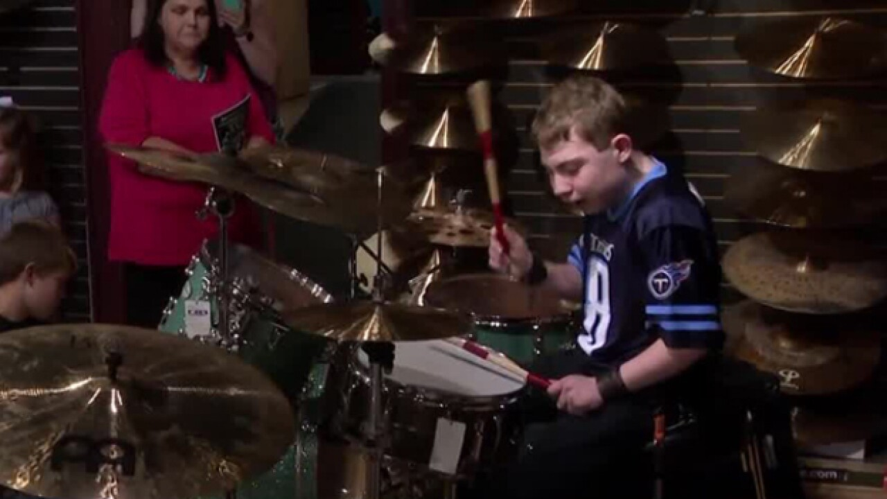 Make-A-Wish Helps Young Drummer Meet His Idol And Get New Drum Kit
