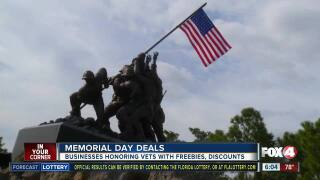 Businesses honor Memorial Day in Southwest Florida