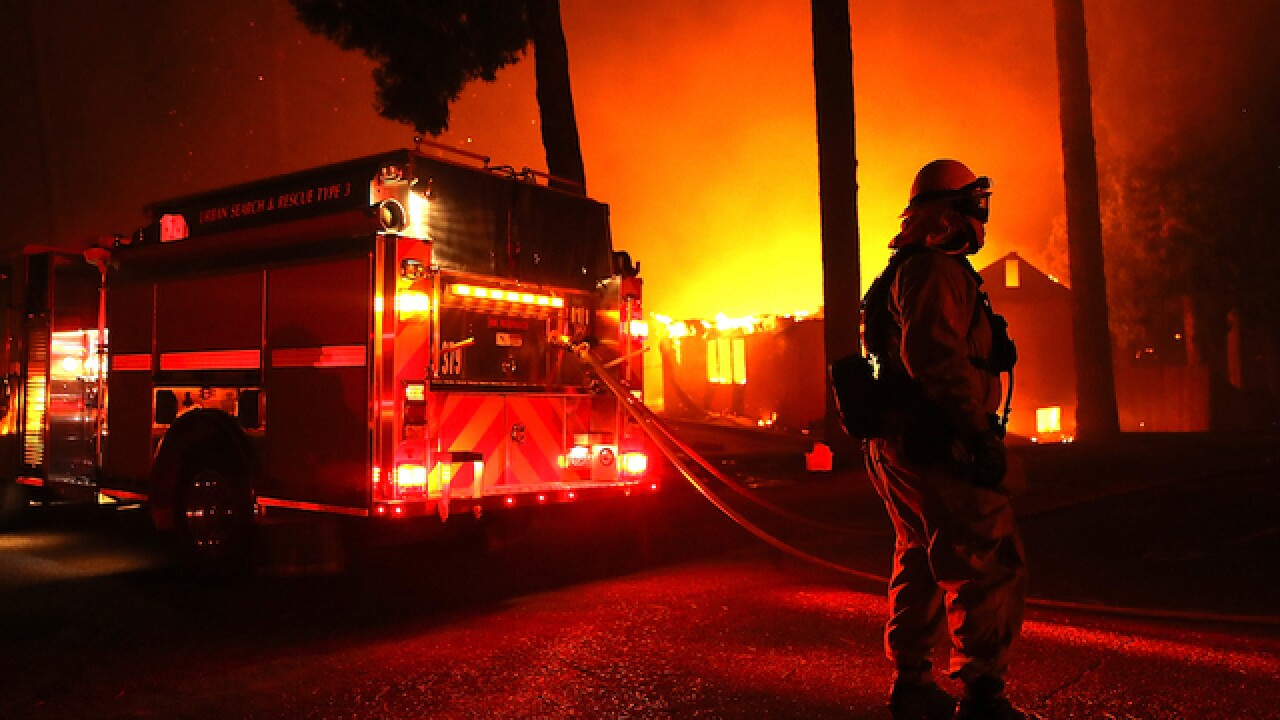 Kim Kardashian and Alyssa Milano flee their homes as California wildfires rage