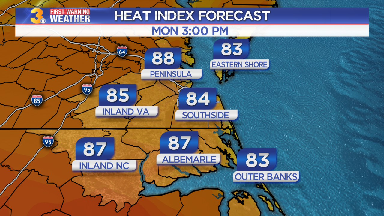 Monday's First Warning Forecast: Sunny, cooler, and less humid today