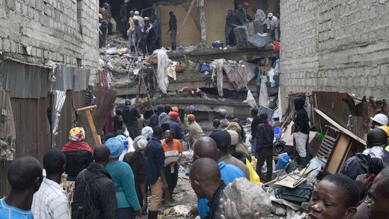 Kenya building collapse death toll climbs