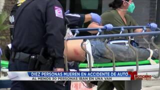 10 migrantes muertos en choque en condado Brooks