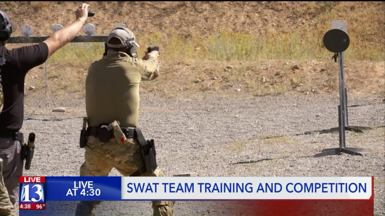 Officers from around the country in Utah for SWAT training and competition