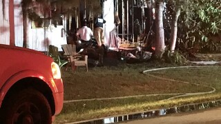Fire on Hart Drive in North Fort Myers
