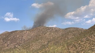Fire near Dove Mountain