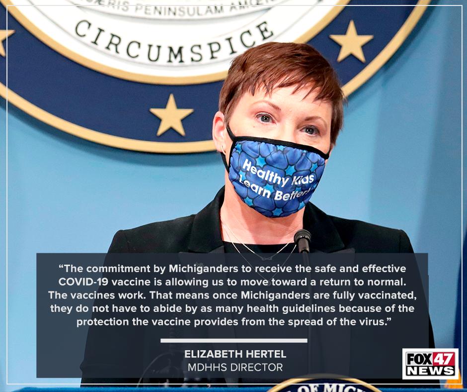 Quote from MDHHS Director, Elzabeth Hertel