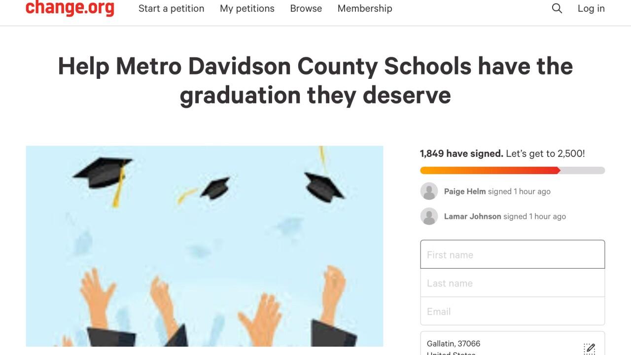 Graduation petition