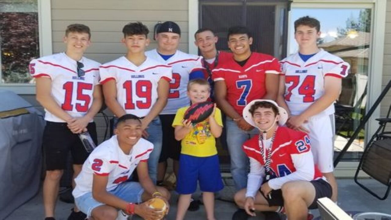 This Football Team Showed Up For A Boy's Birthday Party After Learning He Only Got 1 RSVP From His Classmates