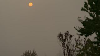 Western Wildfires smoke