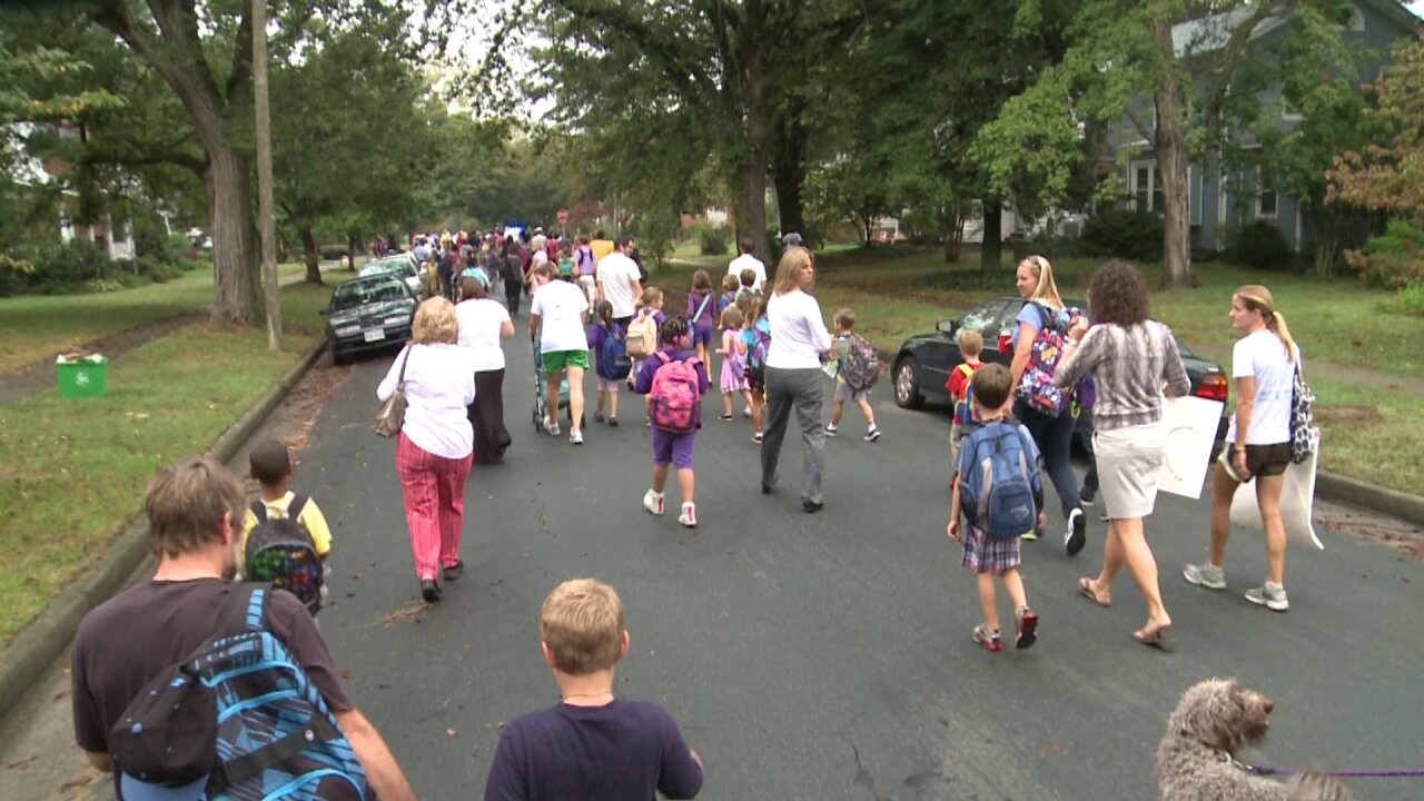 Careful on the road Wednesday, it's International Walk to School Day