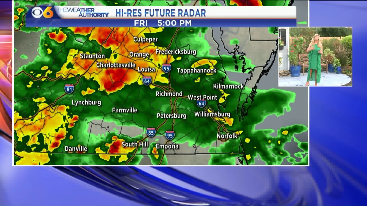 Heavy rain, storms expected Friday evening