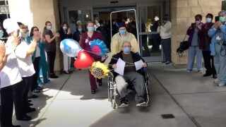 Baltimore hospital celebrates 100th successful discharge of COVID-19 patient.jpg