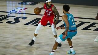 Grizzlies Pelicans Basketball Brandon Ingram