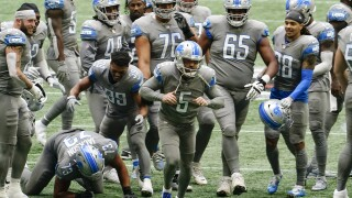 WATCH: Lions locker room celebration after beating Falcons