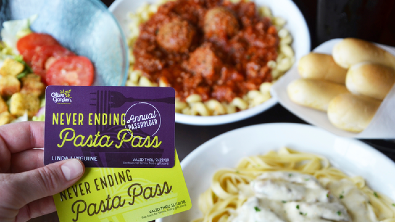 Olive Garden offers year of never-ending pasta